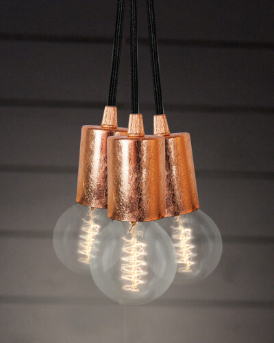 Bulb Attack Cero S3 pendant lamp in copper leaves