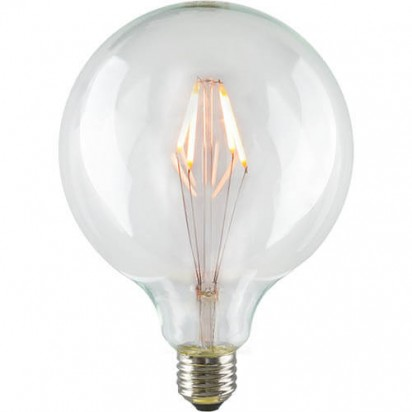 LED Filament Globe L Light Bulb E27 6,5W A+ Dimmable on