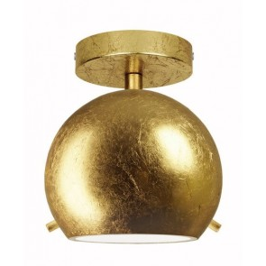 Sotto Luce Myoo Elementary CP 1/C ceiling lamp with gold lamp shade