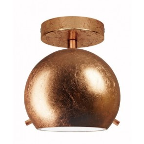 Globe ceiling lamp Sotto Luce Myoo Elementary CP 1/C in copper
