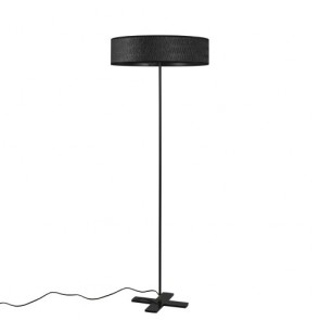 Bulb Attack Once 1/F Slim black contemporary floor lamp
