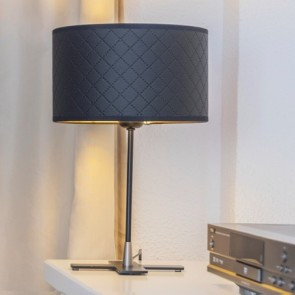 Bulb Attack Trece 1/T Black Bedside Lamp