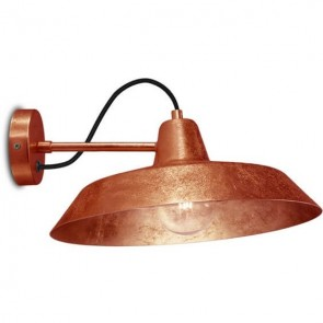 Bulb Attack Cinco Basic W1 wall lamp with copper metal shade and copper hardware