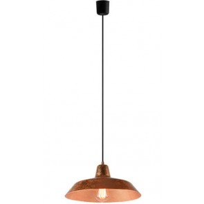 Bulb Attack Cinco S1 pendant lamp with copper leaves shade and black power cable