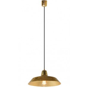 Bulb Attack Cinco S1 pendant lamp with gold leaves shade and black power cable
