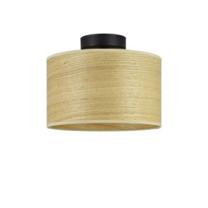 Sotto Luce TSURI CP S ceiling lamp with natural wooden veneer shade - oak