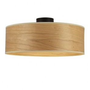 Sotto Luce TSURI CP XL ceiling lamp with natural wooden veneer shade - cherry