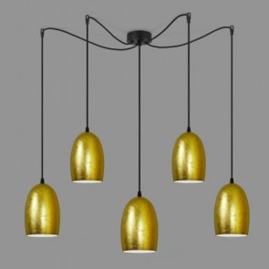 Sotto Luce UME Elementary 5/S gold/opal pendant lamp