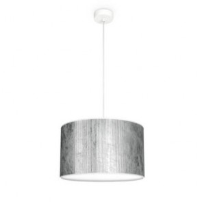 Bulb Attack TRES Plisado S1 cylindrical pendant lamp