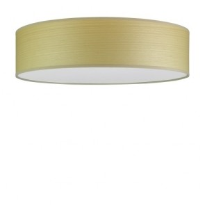 Sotto Luce TSURI Elementary ceiling lamp with natural wooden veneer shade - white beech