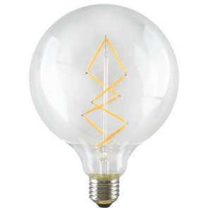 Globe Zig Zag L LED Bulb - Decorative Light E27 6,5W A+ dimmable
