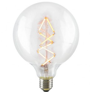 Globe Zig Zag L LED Bulb - Decorative Dimmable Filament Light on