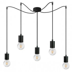 Bulb Attack Cero Basic S5 pendant lamp with black metal bulb holder