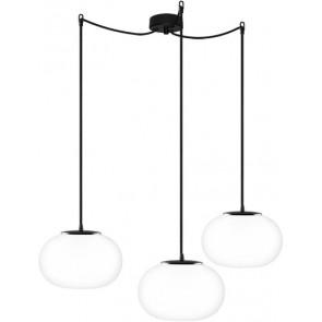 Sotto Luce DOSEI 3/S pendant lamp opal matte/black