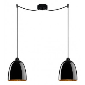 Sotto Luce Awa 2/S Elementary black/gold hanging lamp