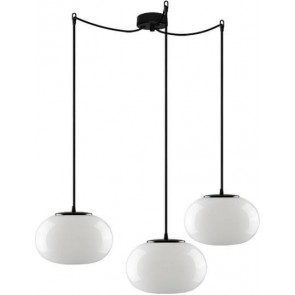 Sotto Luce DOSEI Elementary 3/S ceiling lamp opal/black