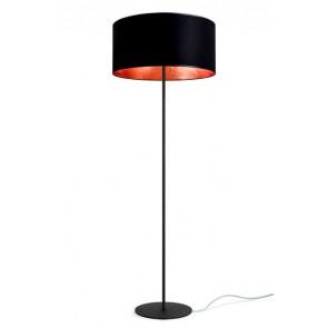 Lampa stojąca / podłogowa Sotto Luce Mika Elementary 1/F z abażurem czarny/płatki miedzi