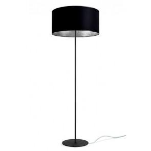 Lampa stojąca / podłogowa Sotto Luce Mika Elementary 1/F z abażurem czarny/płatki srebra