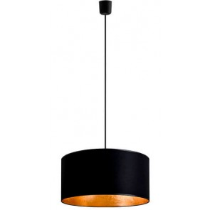 Sotto Luce MIKA Elementary 1/S pendant lamp with large black/goldshade