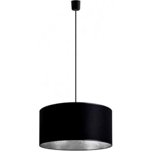 Sotto Luce MIKA Elementary 1/S pendant lamp with xl black/silver shade