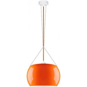 Sotto Luce MOMO Elementary 1/S pendant lamp with orange/opal glass shade