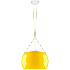 Sotto Luce MOMO Elementary 1/S pendant lamp with yellow/opal glass shade