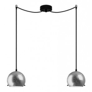 Sotto Luce MYOO Elementary 2/S ceiling light with silver lamp shade