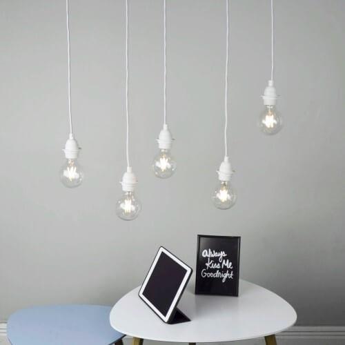 Minimalistic Retro Pendant lamp Bulb Attack UNO S5 white