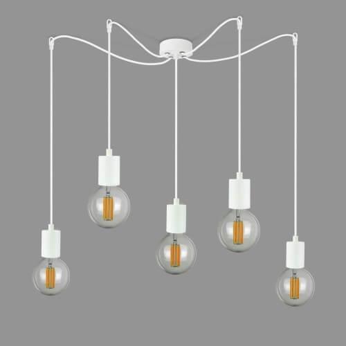 Cascade Pendant lamp Bulb Attack Cero S5 white