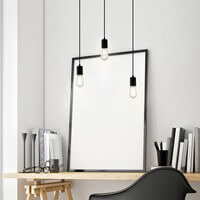 Bulb Attack Cero pendant lamp with black lamp holder and