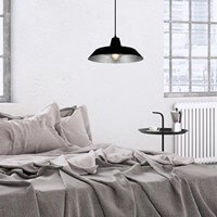 Industry pendant lamp Bulb Attack Cinco with black / silver shade