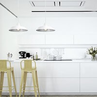 Bulb Attack Cinco pendant lamp with white / silver shade