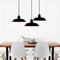 Ceiling lamp Bulb Attack Cinco with black shade and black power cable