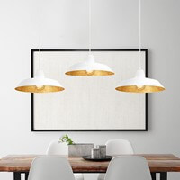 Loft pendant lamp Bulb Attack Cinco with white/silver shade