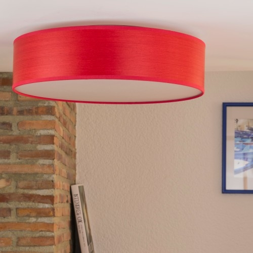 Wooden ceiling lamp Bulb Attack Ocho red