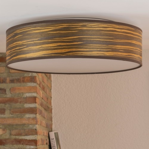 Brown wooden ceiling lamp Bulb Attack Ocho L