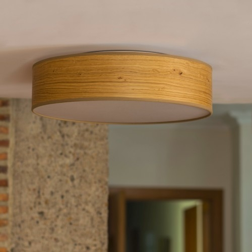 Rustical ceiling lamp Bulb Attack Ocho - oak