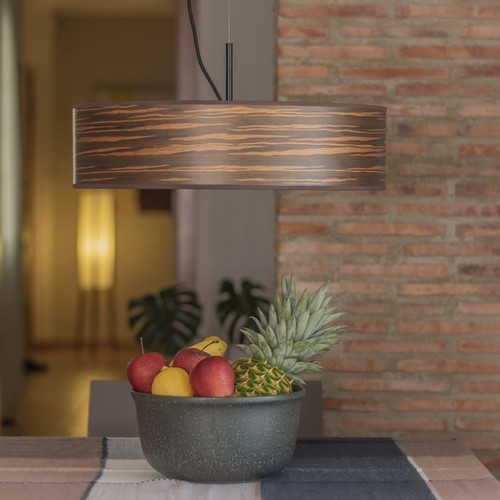 Modern Wooden Lamp Bulb Attack Ocho Slim - Brown striped