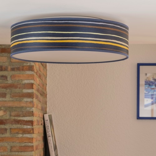 Wooden ceiling lamp Bulb Attack Ocho L/C - blue striped