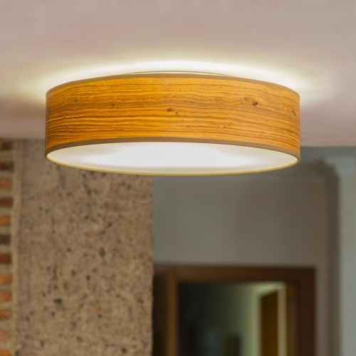 Natural wooden ceiling lamp Bulb Attack Ocho 1/C - Rustic oak