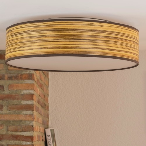 Bulb Attack Ocho natural wooden ceiling lamp - Zebrano