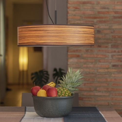Wooden Pendant Lamp Bulb Attack Ocho Slim 1/S - Zebrano