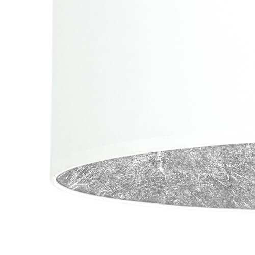 Pendant lamp Bulb Attack Tres white & silver