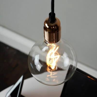 Retro pendant lamp Bulb Attack Uno Basic with copper bulb holder