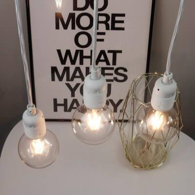Beautiful white pendant lamp Bulb Attack Uno Basic S3
