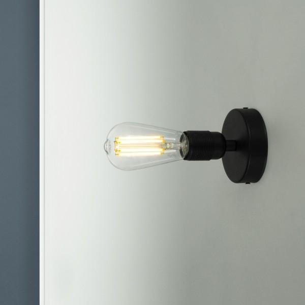 Wandleuchte Bulb Attack Uno Basic W1 schwarz
