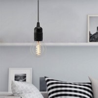 Bulb Attack Uno pendant lamp with black lamp holder