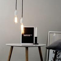 Retro pendant lamp Bulb Attack Uno with white bulb holder