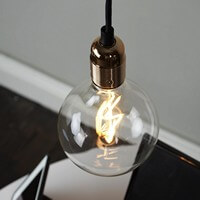 Gold pendant lamp from Bulb Attack - Uno