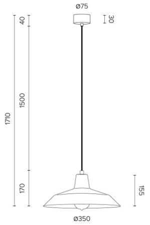 Hängeleuchte Bulb Attack Cinco S1 Abmessungen